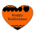 Happy Halloween - owls Heart Mousepads Front