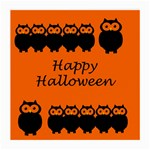 Happy Halloween - owls Medium Glasses Cloth (2-Side) Front
