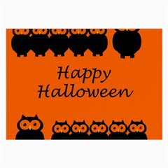 Happy Halloween - owls Large Glasses Cloth