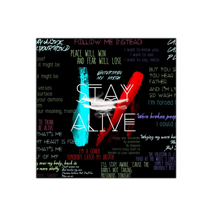 Twenty One Pilots Stay Alive Song Lyrics Quotes Satin Bandana Scarf