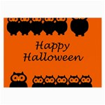 Happy Halloween - owls Large Glasses Cloth (2-Side) Back