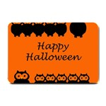 Happy Halloween - owls Small Doormat  24 x16 Door Mat - 1