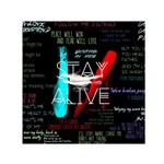 Twenty One Pilots Stay Alive Song Lyrics Quotes Small Satin Scarf (Square) Front