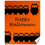 Happy Halloween - owls Canvas 11  x 14   14 x11 Canvas - 1