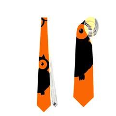 Happy Halloween   Owls Neckties (one Side)