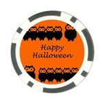 Happy Halloween - owls Poker Chip Card Guards Back