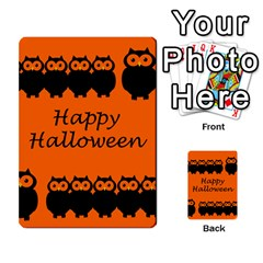 Happy Halloween   Owls Multi Purpose Cards (rectangle)