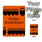 Happy Halloween - owls Multi-purpose Cards (Rectangle)  Back 36