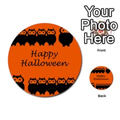 Happy Halloween   Owls Multi Purpose Cards (round)