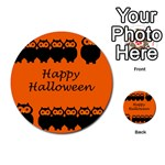 Happy Halloween - owls Multi-purpose Cards (Round)  Back 24