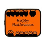 Happy Halloween - owls Netbook Case (Small)  Front