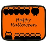Happy Halloween - owls Netbook Case (Large) Front
