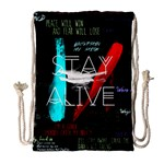 Twenty One Pilots Stay Alive Song Lyrics Quotes Drawstring Bag (Large) Front