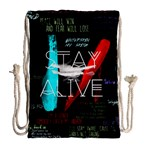 Twenty One Pilots Stay Alive Song Lyrics Quotes Drawstring Bag (Large) Back