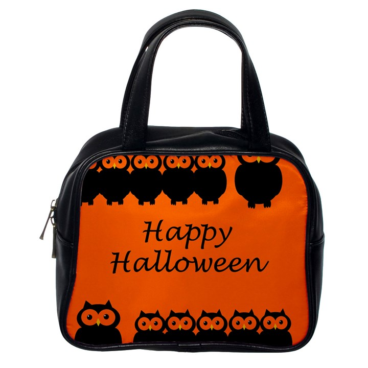 Happy Halloween - owls Classic Handbags (One Side)