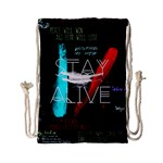 Twenty One Pilots Stay Alive Song Lyrics Quotes Drawstring Bag (Small) Back