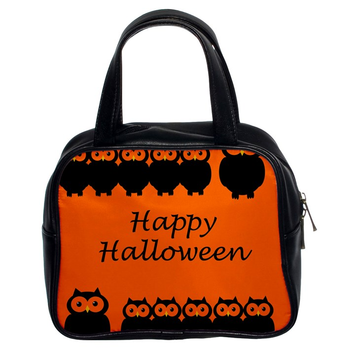 Happy Halloween - owls Classic Handbags (2 Sides)