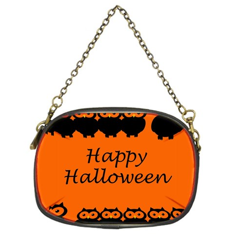 Happy Halloween - owls Chain Purses (One Side)
