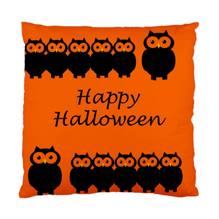 Happy Halloween - owls Standard Cushion Case (Two Sides)