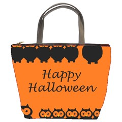 Happy Halloween   Owls Bucket Bags