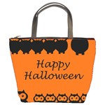 Happy Halloween - owls Bucket Bags Front