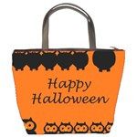 Happy Halloween - owls Bucket Bags Back