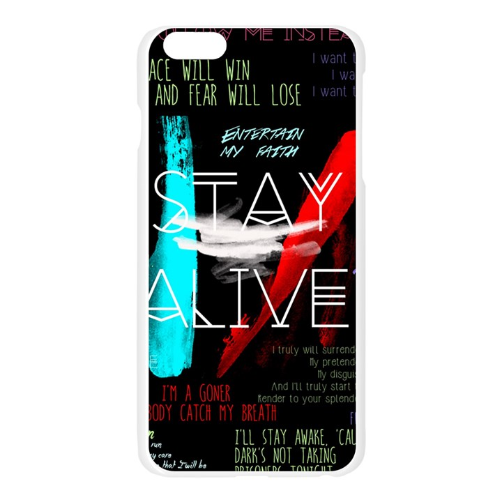 Twenty One Pilots Stay Alive Song Lyrics Quotes Apple Seamless iPhone 6 Plus/6S Plus Case (Transparent)