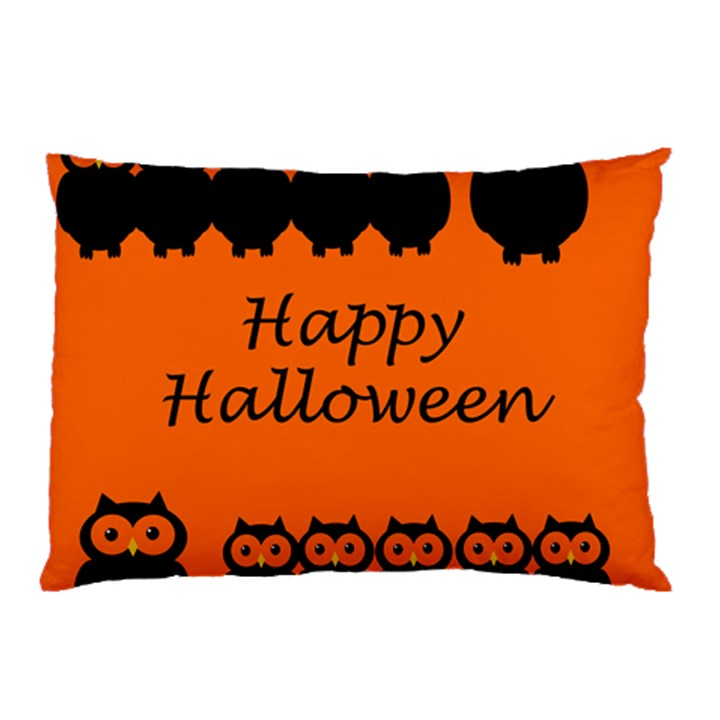 Happy Halloween - owls Pillow Case