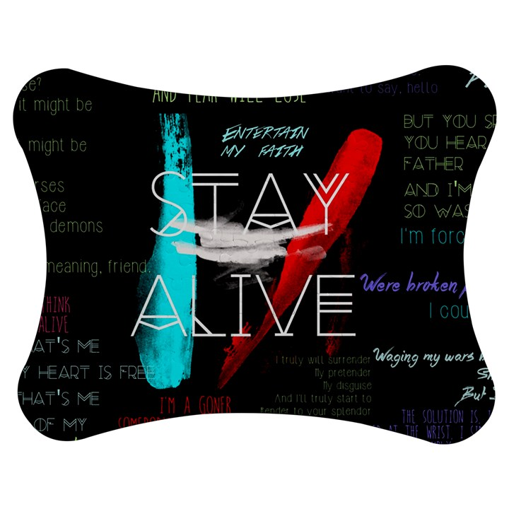 Twenty One Pilots Stay Alive Song Lyrics Quotes Jigsaw Puzzle Photo Stand (Bow)