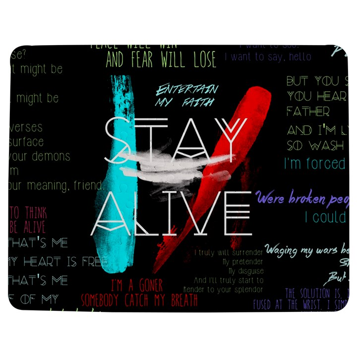 Twenty One Pilots Stay Alive Song Lyrics Quotes Jigsaw Puzzle Photo Stand (Rectangular)