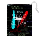 Twenty One Pilots Stay Alive Song Lyrics Quotes Drawstring Pouches (XXL) Front