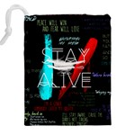 Twenty One Pilots Stay Alive Song Lyrics Quotes Drawstring Pouches (XXL) Back