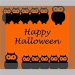 Happy Halloween - owls Canvas 10  x 8  10  x 8  x 0.875  Stretched Canvas