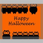 Happy Halloween - owls Canvas 14  x 11  14  x 11  x 0.875  Stretched Canvas