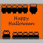 Happy Halloween - owls Canvas 20  x 16  20  x 16  x 0.875  Stretched Canvas