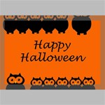 Happy Halloween - owls Canvas 18  x 12  18  x 12  x 0.875  Stretched Canvas