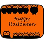Happy Halloween - owls Double Sided Fleece Blanket (Mini)  35 x27 Blanket Back