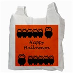 Happy Halloween - owls Recycle Bag (Two Side)  Back