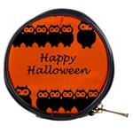 Happy Halloween - owls Mini Makeup Bags Front
