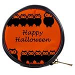 Happy Halloween - owls Mini Makeup Bags Front
