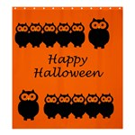 Happy Halloween - owls Shower Curtain 66  x 72  (Large)  58.75 x64.8 Curtain