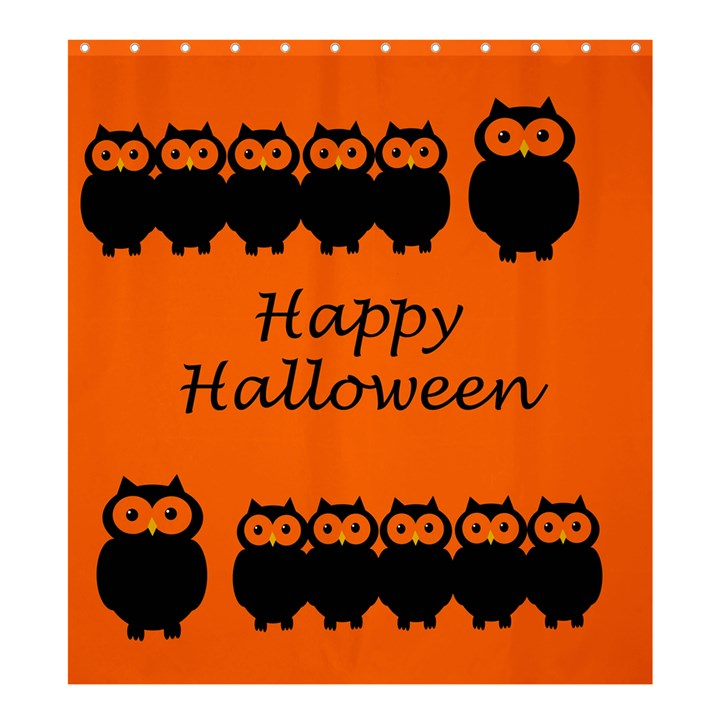 Happy Halloween - owls Shower Curtain 66  x 72  (Large)