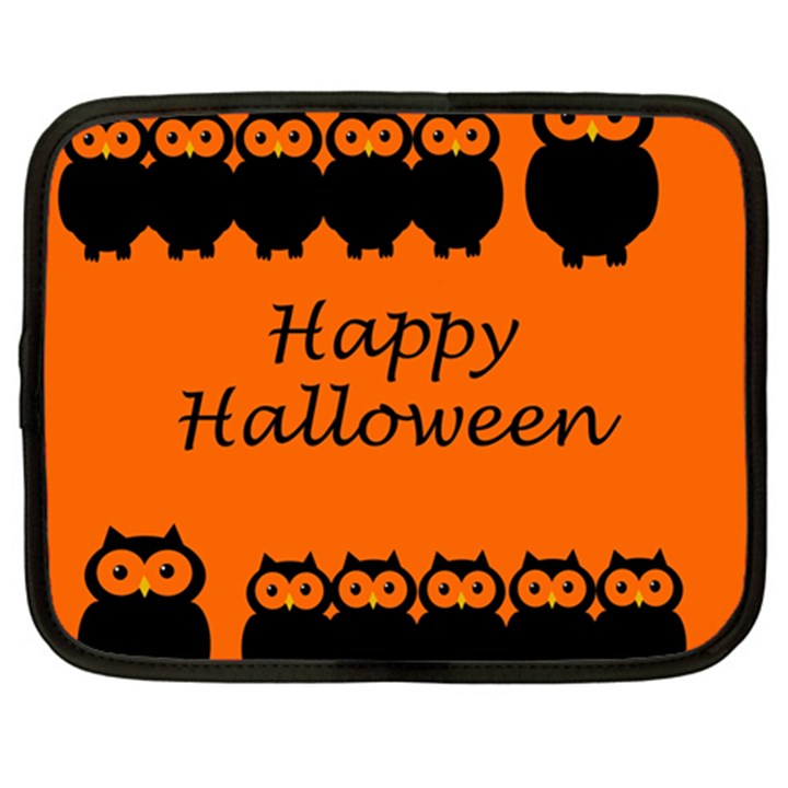 Happy Halloween - owls Netbook Case (XL)