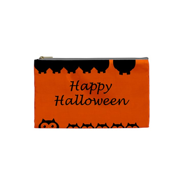 Happy Halloween - owls Cosmetic Bag (Small)
