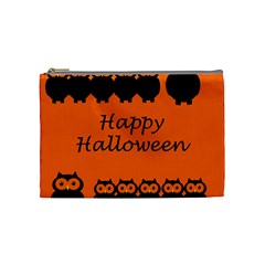 Happy Halloween   Owls Cosmetic Bag (medium)