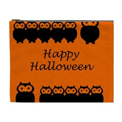 Happy Halloween   Owls Cosmetic Bag (xl)
