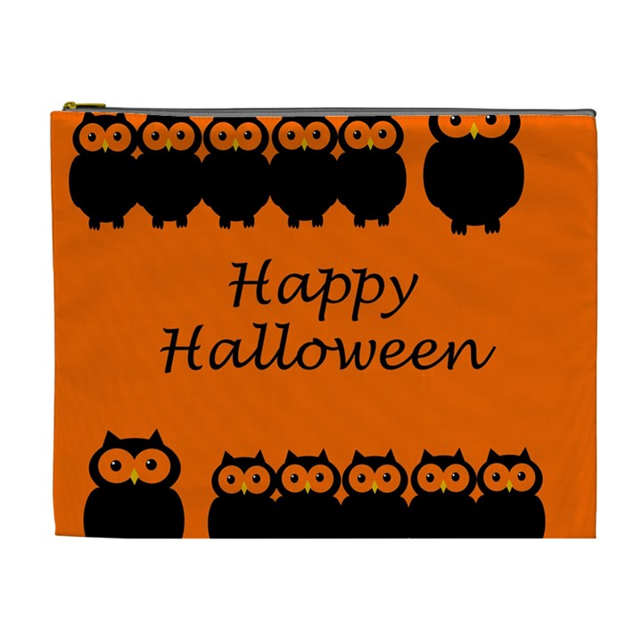 Happy Halloween - owls Cosmetic Bag (XL)