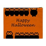 Happy Halloween - owls Cosmetic Bag (XL) Back