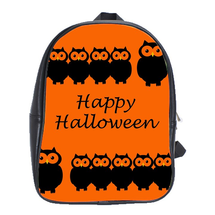 Happy Halloween - owls School Bags(Large)