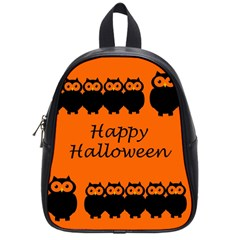 Happy Halloween   Owls School Bags (small)